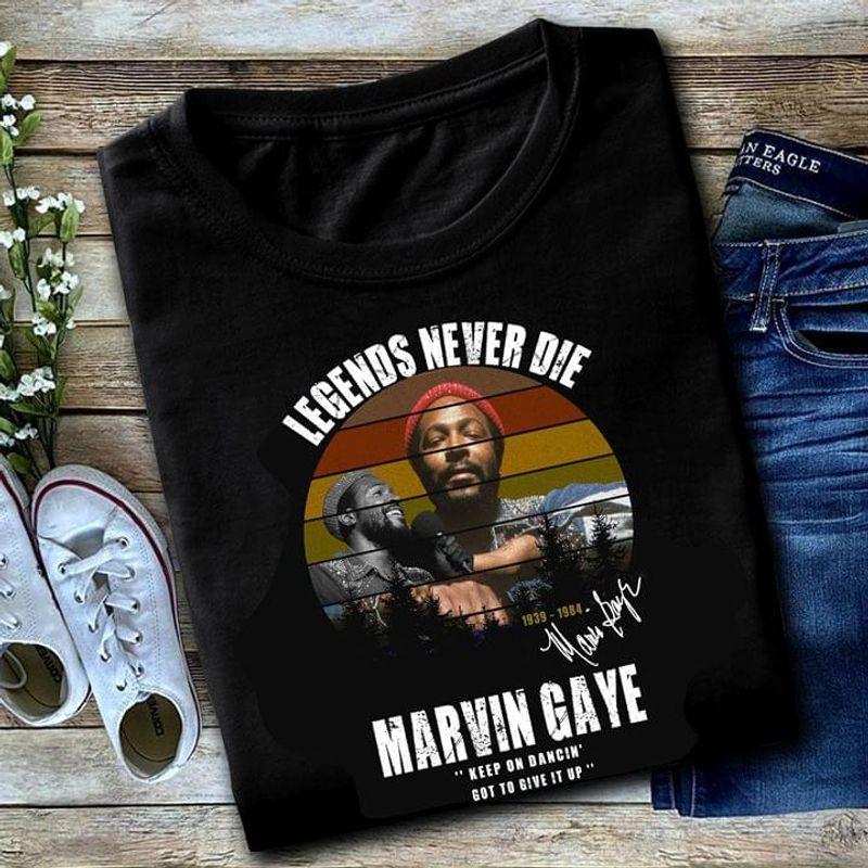 Marvin Gaye Legends Never Die Marvin Gaye Memory Vintage Black T Shirt Men And Women S-6XL Cotton
