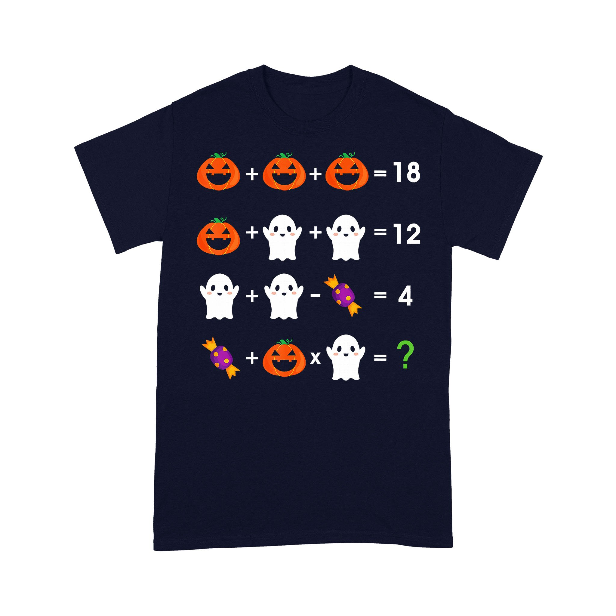 Math Pumpkin Ghost Halloween T-shirt