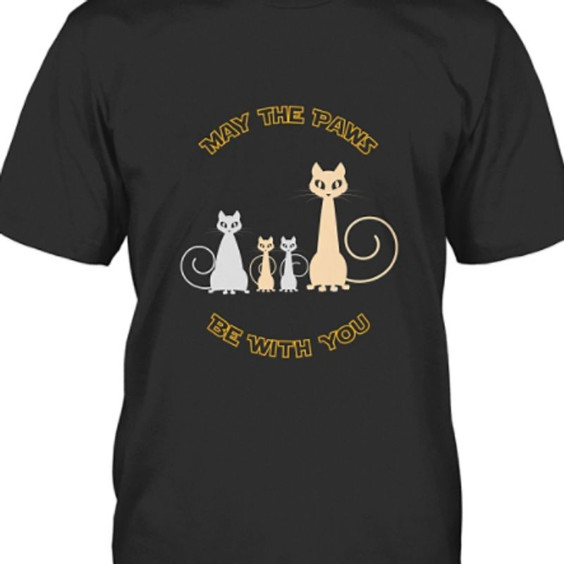May The Paws Be With You T-shirt Black A9