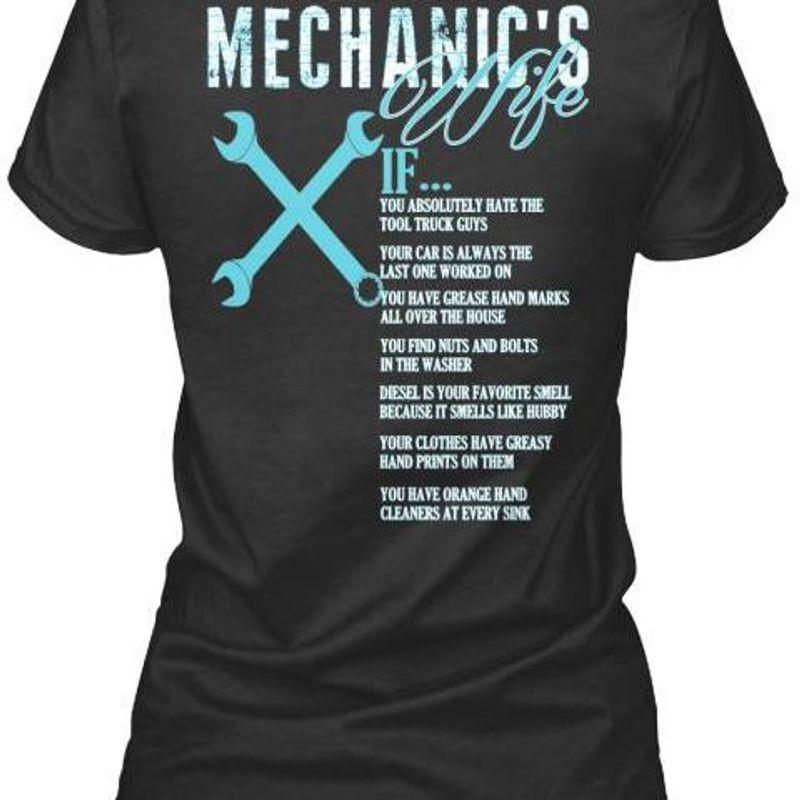 Mechanics You Baybe Orange Hand Cleaners Ar Every Sine   T-shirt Black B1