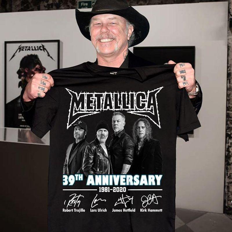 Metallica Fans 39th Anniversary Signature Black T Shirt Men/ Woman S-6XL Cotton