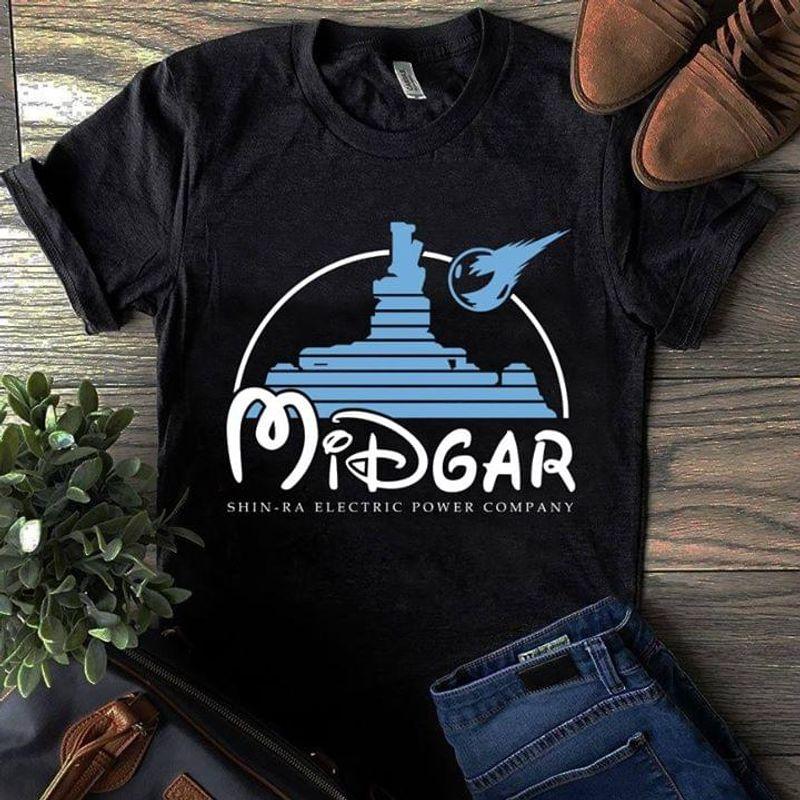 Midgar Final Fantasy Mickey Disney Dark Heather T Shirt Men And Women S-6XL Cotton