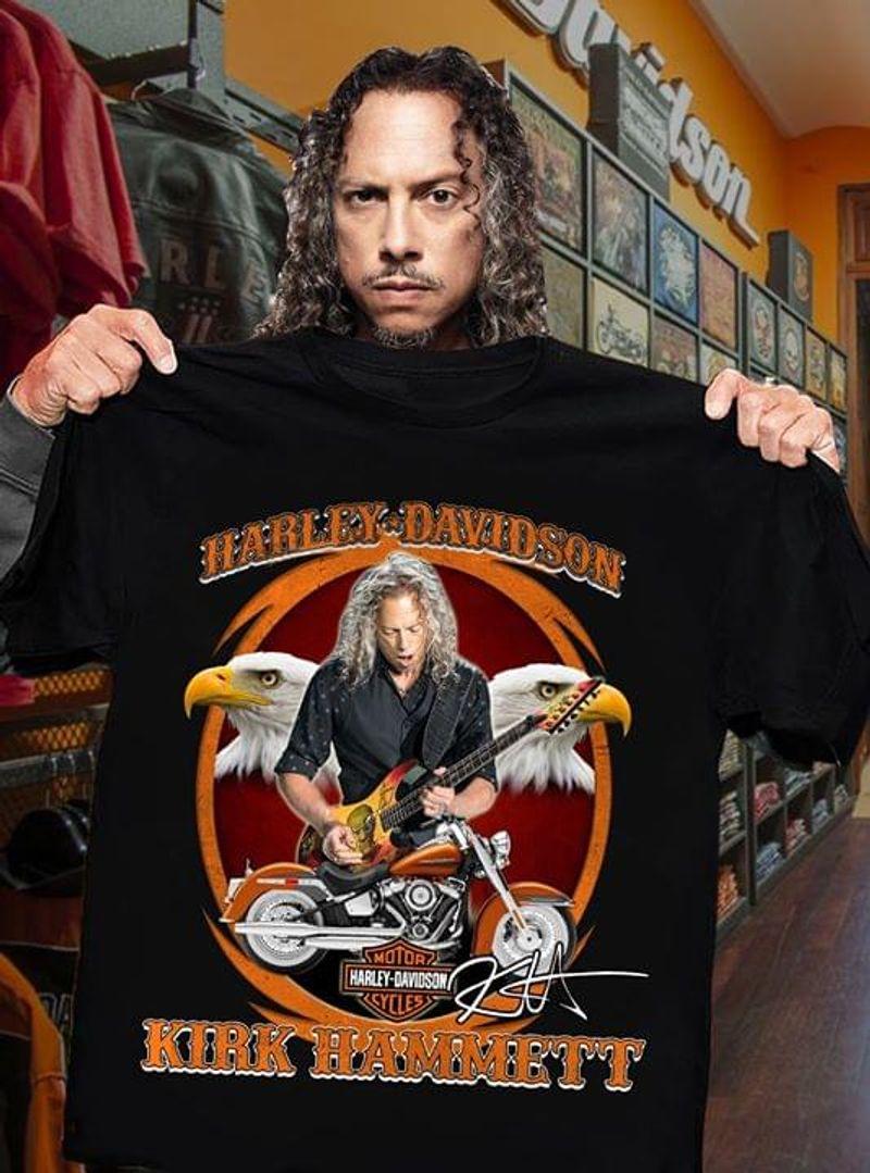 Motor Cycles Harley-Davidson Kirk Hammett Vintage A Great Gift Idea Black  T Shirt Men/ Woman S-6XL Cotton