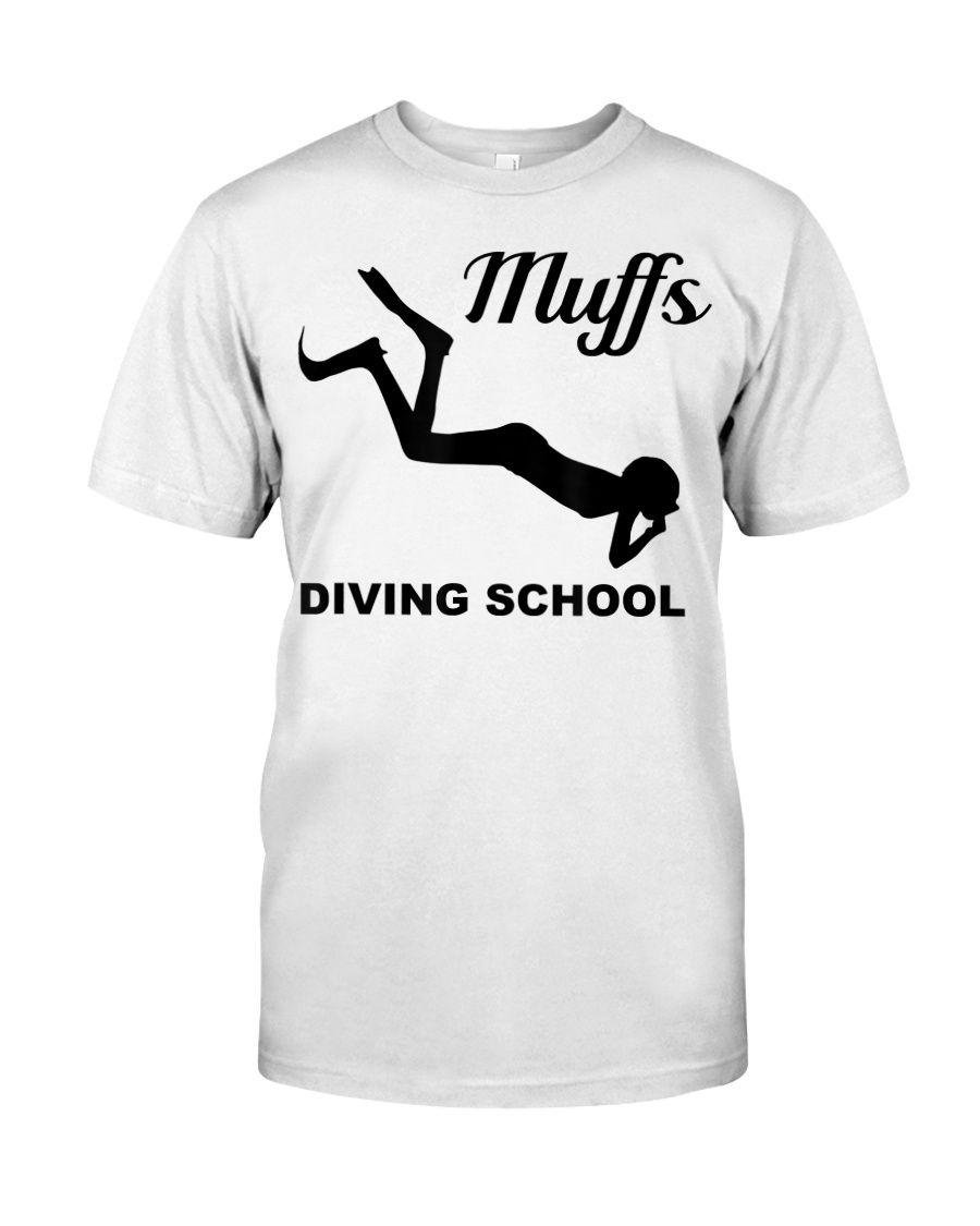 Muffs Diving School Halloween Funny Scuba T-Shirt