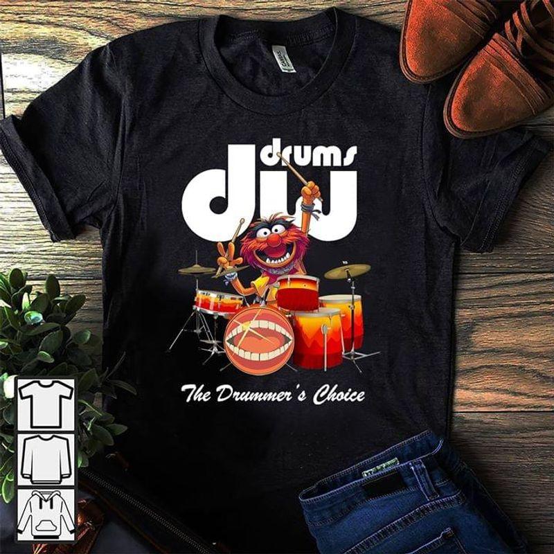 Muppet Drummer And Paiste T Shirt Black S-6XL Men And Women Clothing
