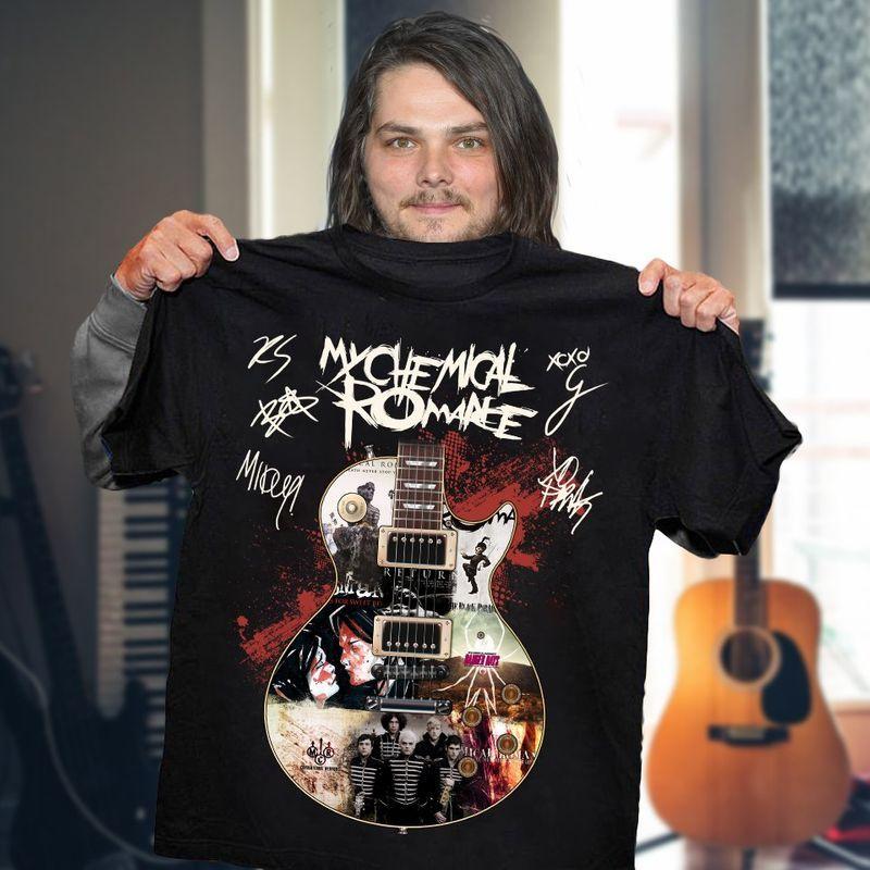 My Chemical Romance Guitar Signatures T-shirts Black