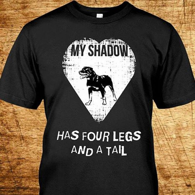 My Shadow Has Four Legs And A Tail T-shirt Black A5