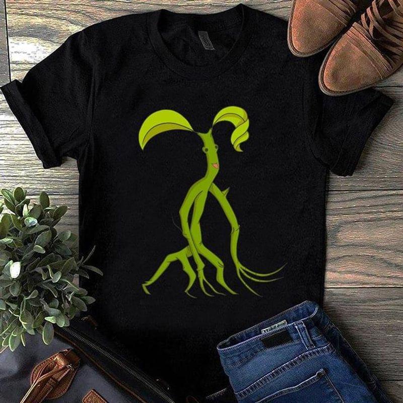 Natural Lover Tree Animal Funny Art Tee Green Tree Man Print Black T Shirt Men And Women S-6XL Cotton