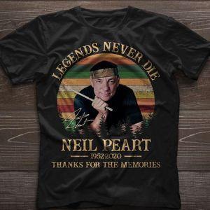 Neil Peart RUSH Legends Never Die 1952 2020 Thanks For The Memories Neil Peart Fans Black T Shirt
