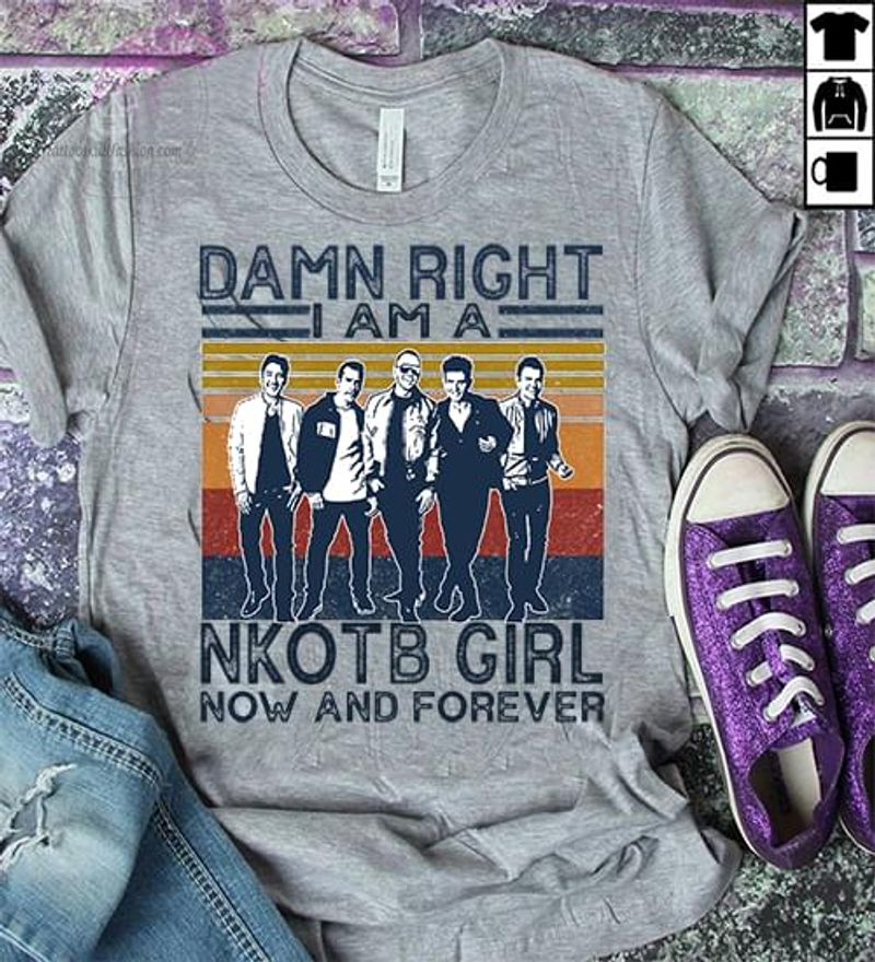 New Kids On The Block Fans I Am A Nkotb Girl Vintage Grey Sport Grey T Shirt Men And Women S-6XL Cotton
