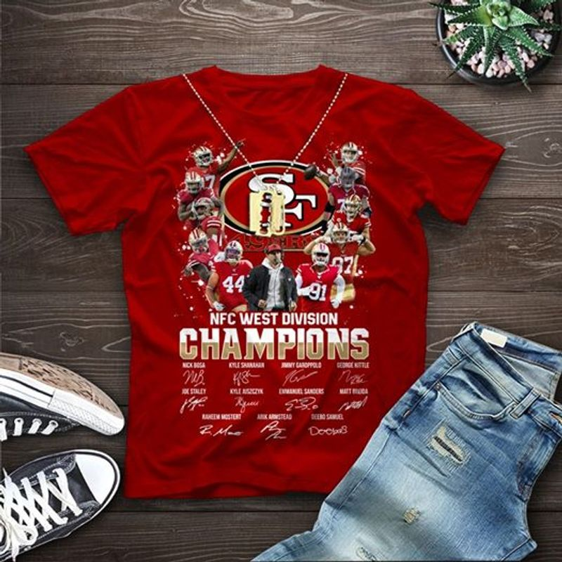 Nfc West Division Champions   T-shirt Red B1