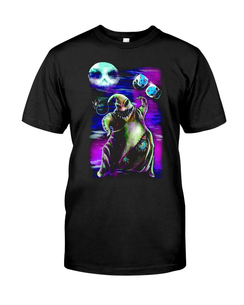 Nightmare Before Christmas Oogie Boogie Halloween Style Black T Shirt Men And Women S-6XL Cotton