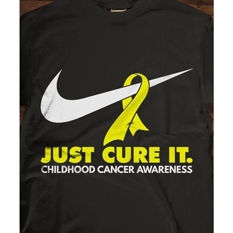Nike Just Cure It Childhood Cancer Awareness T-shirt Black A5
