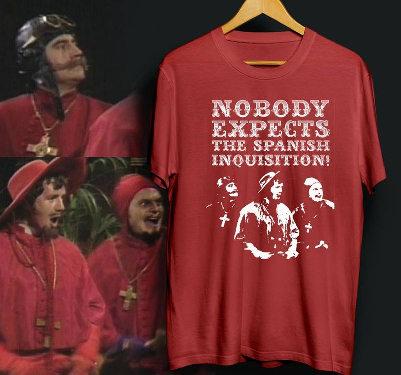 Nobody Exoects The Spanish Inquisition T-shirt Red B4