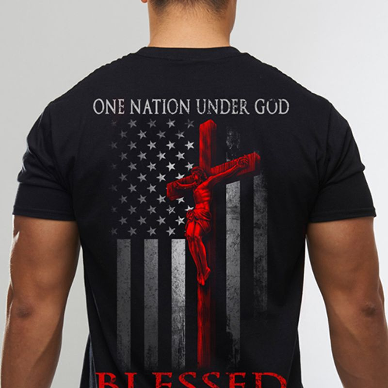One Nation Under God Blessed T-Shirt Black A2