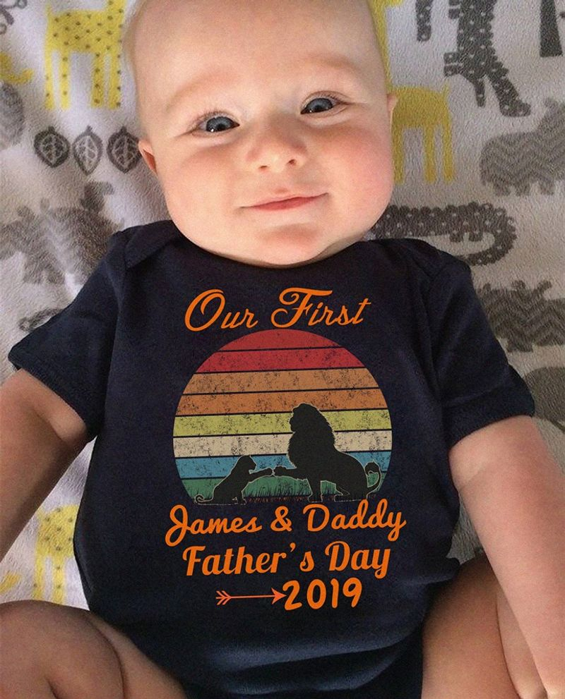 Our First  James Daddy Father S Day 2019 T-shirt Black B5