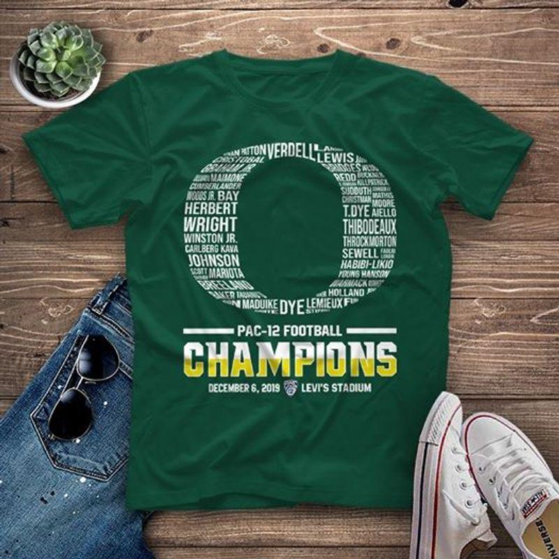 Pac 12 Football Champions T-shirt Green A1