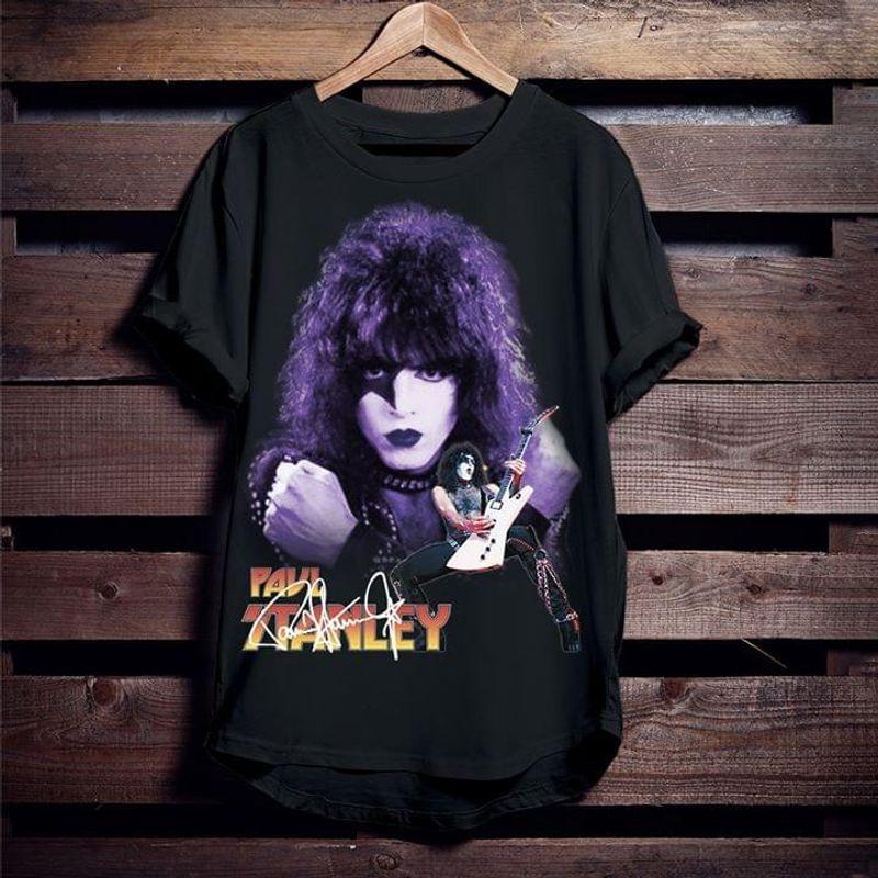 Paul Stanley Rock Band Kiss Amazing Design For Fans Music Lovers Black T Shirt Men And Women S-6XL Cotton