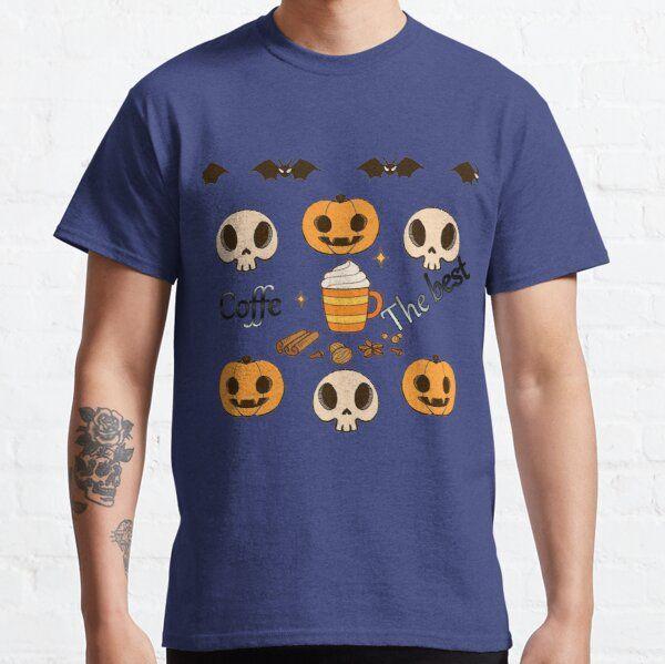 Pumpkin + Coffe : Cute Halloween Gift For Coffe Lover, Kid Siblings T-Shirt