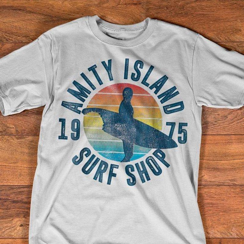 Retro Amity Island Surf Shop Vintage White T Shirt Men/ Woman S-6XL Cotton