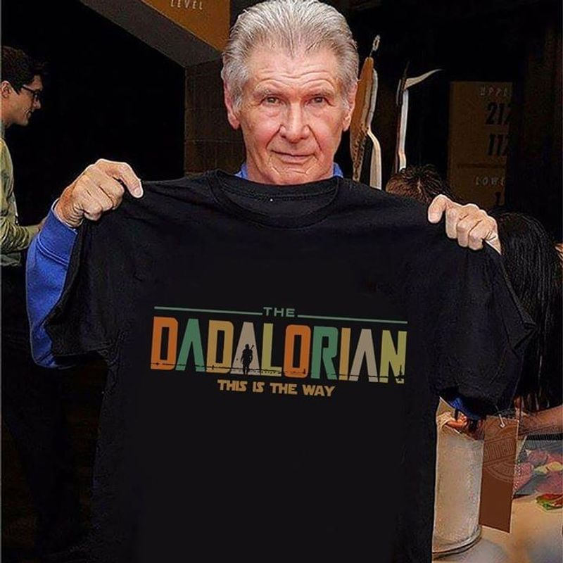 Retro Vintage Father's Day Gift Star Wars The Dadalorian This Is The Way T Shirt Black S-6XL Men And Women Clothing