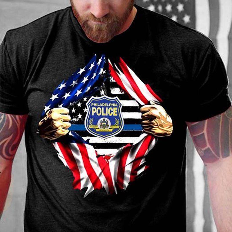Ripping Philadelphia Police T Shirt Black A5