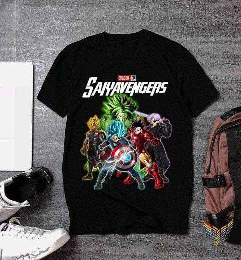 Saiyavengers Avengers Dragon Ball Super Saiyans Goku Captain America BlackT Shirt Men/ Woman S-6XL Cotton