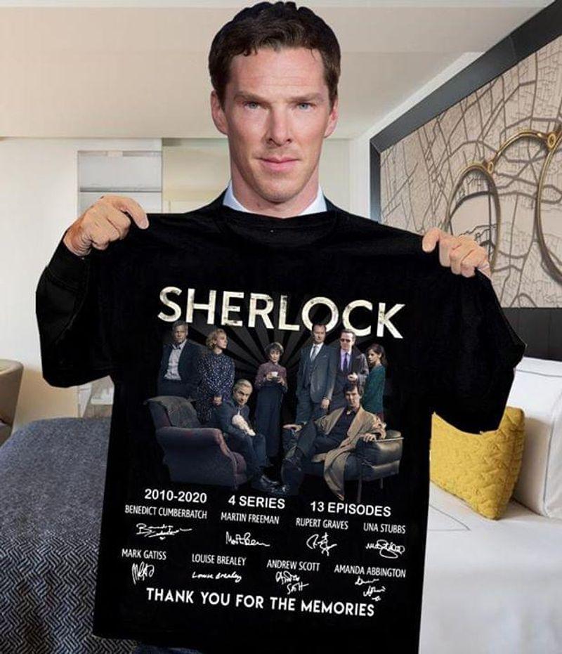 Sherlock Lovers 2010 2020 4 Series 13 Episodes Signature Thank You For The Memories Black T Shirt Men/ Woman S-6XL Cotton