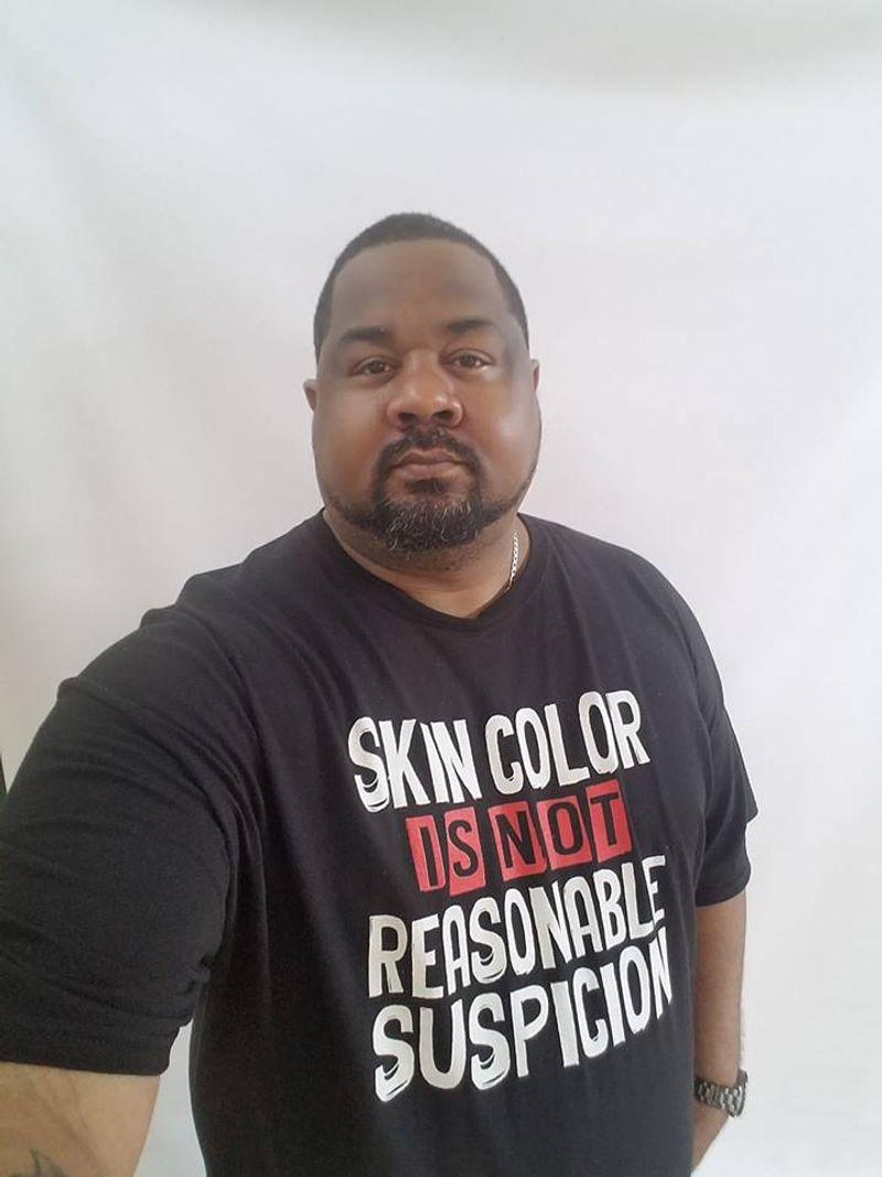 Skin Color Is Not Suspicion T-shirt Black A9