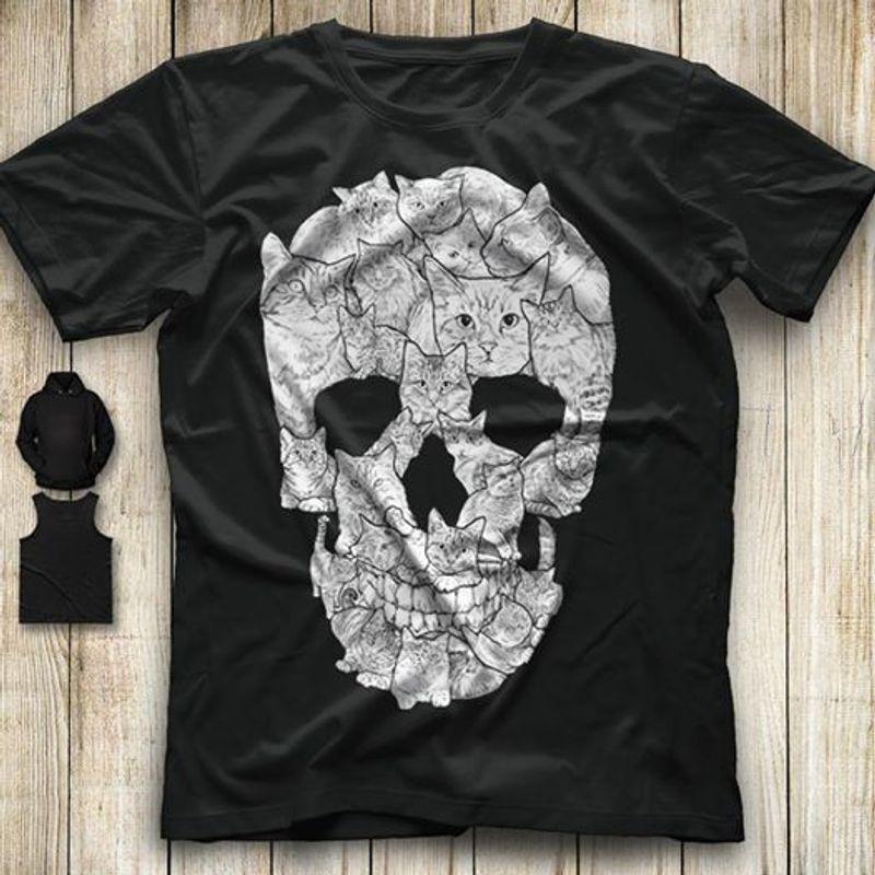 Skull Cats T-shirt Black A2