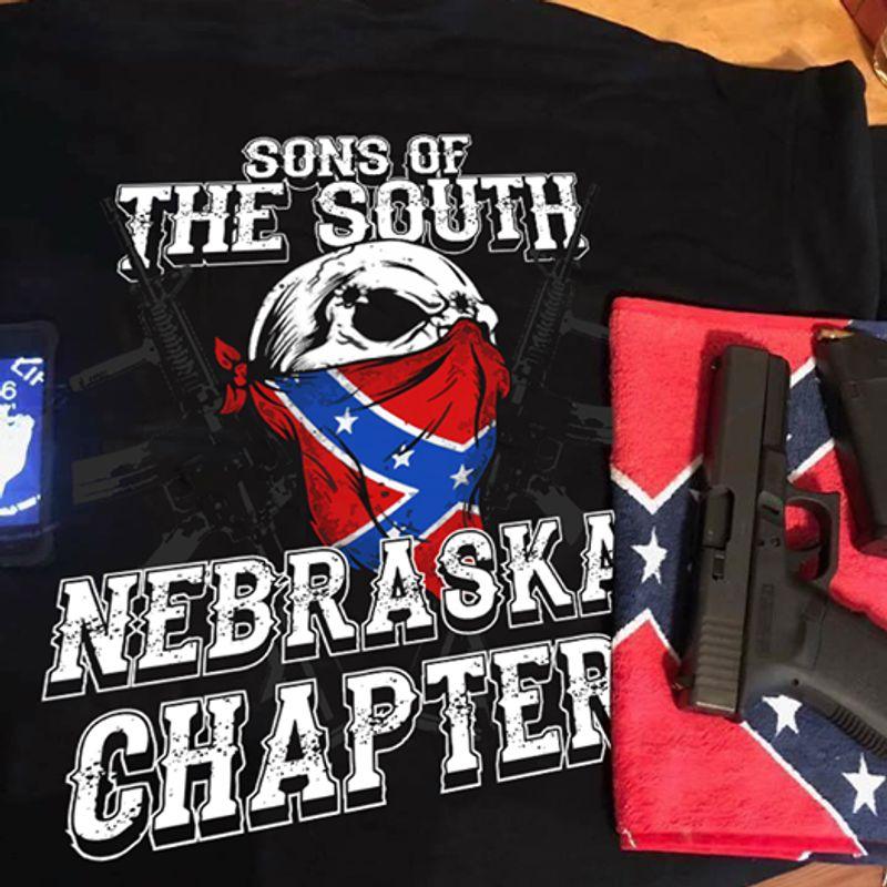 Skull Sons Of The South Nebraska Chapter   T-shirt Black A5