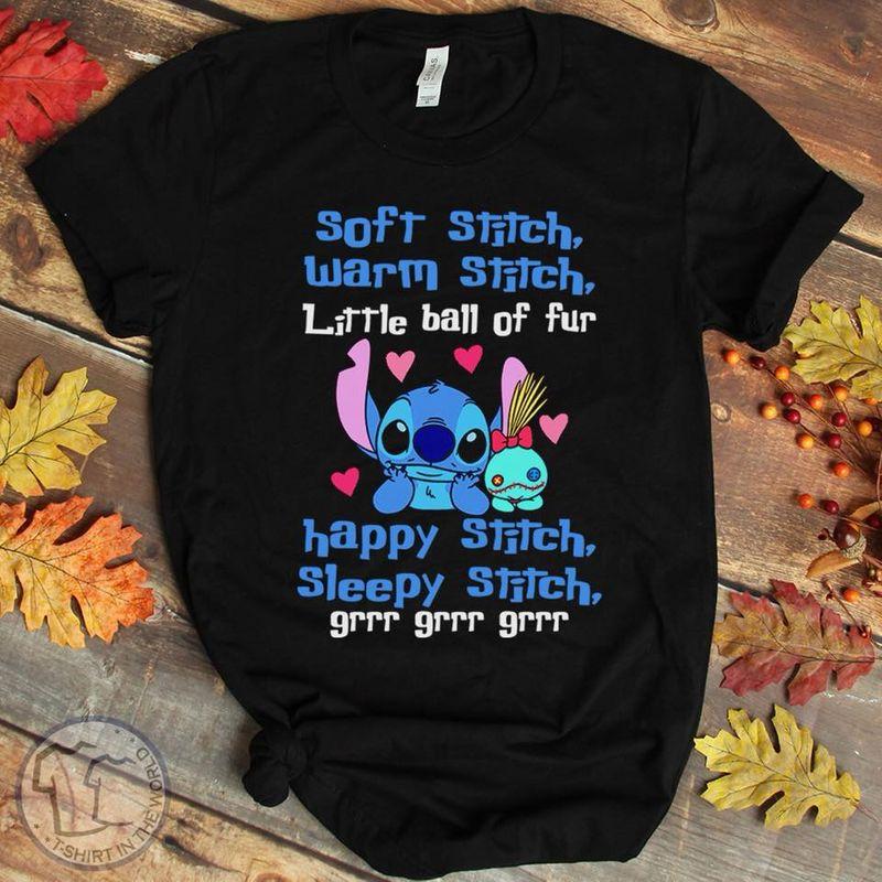 Soft Stitch Warm Stitch Little Ball Of Fur T-shirt Black A5