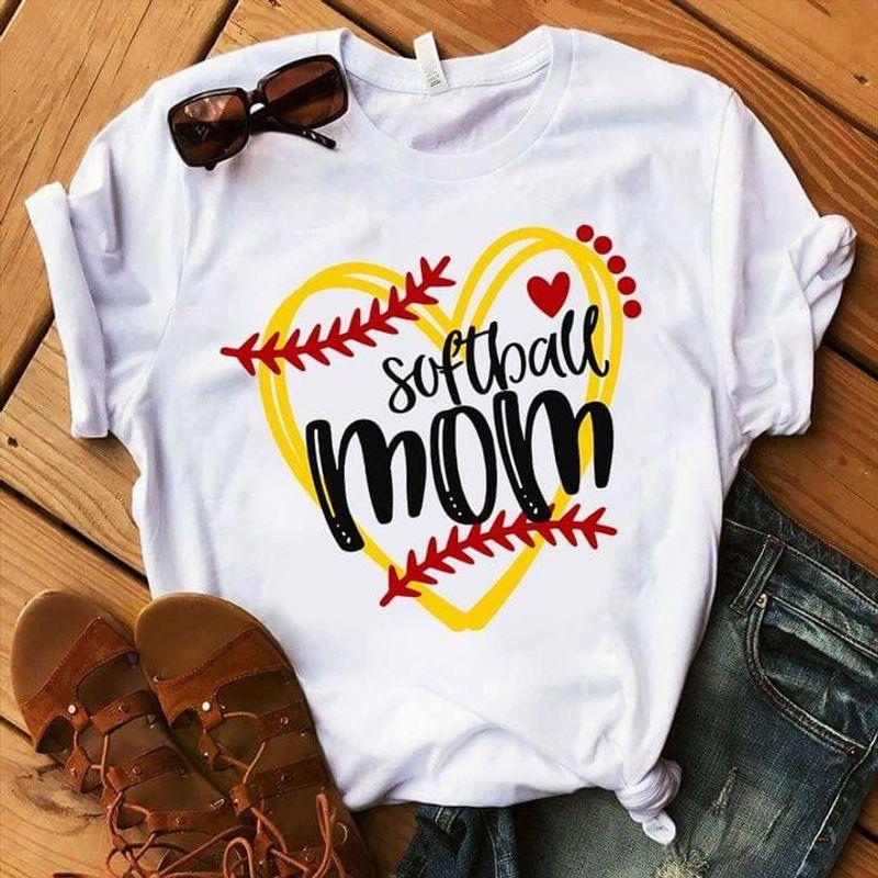 Softball Mom Shirt Softball Lover Mother Family Thanksgiving Christmas Gift Idea White T Shirt Men And Women S-6XL Cotton