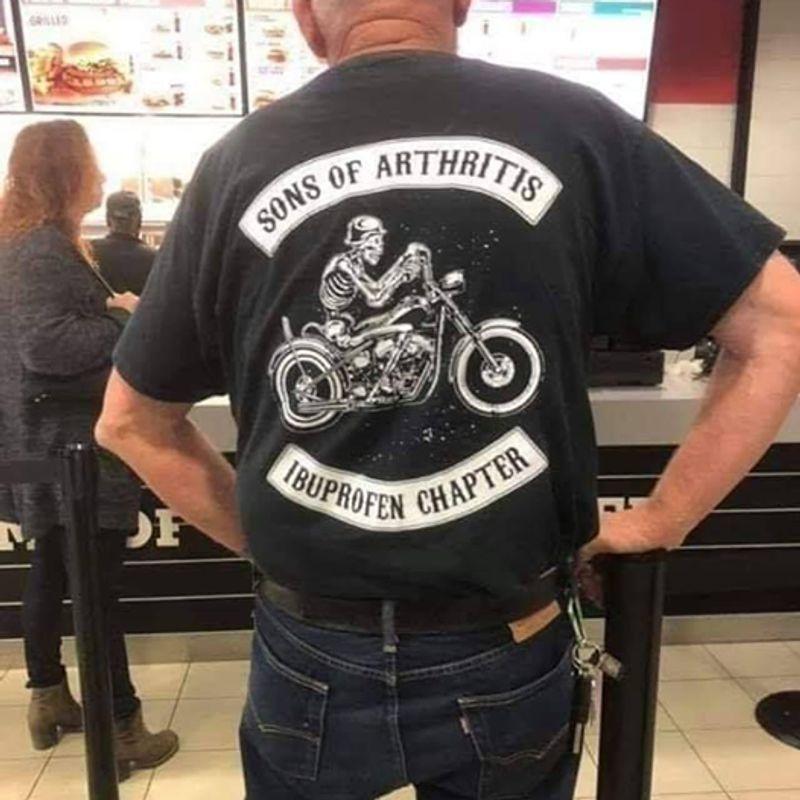 Sons Of Arthritis Ibuprofen Chapter T-shirt Black Sons Of Arthritis I Buprofen Chapter T-shirt Black