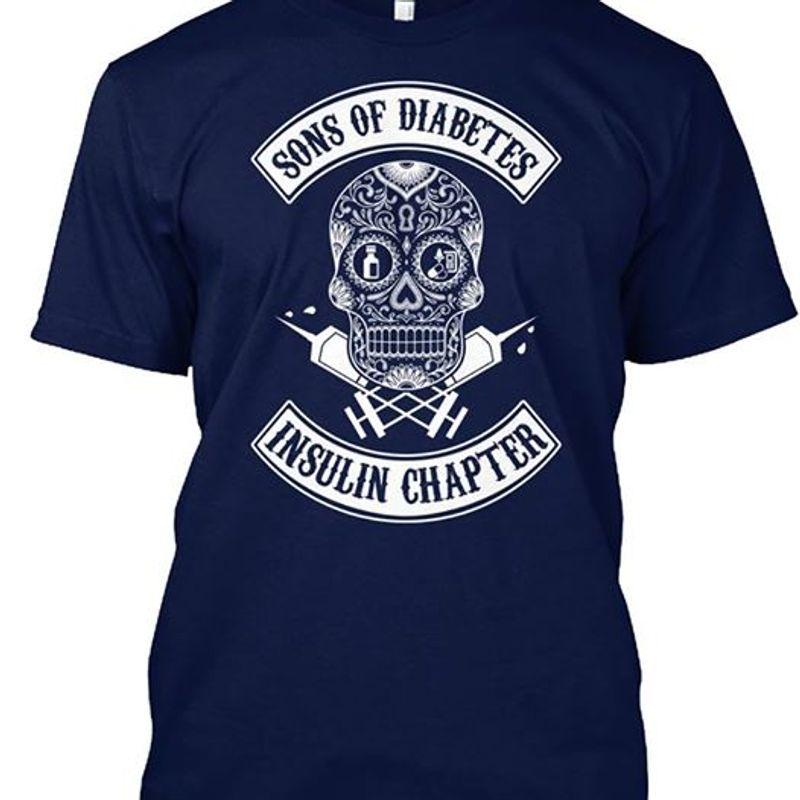 Sons Of Diabetes Insulin Chapter Skullcap  Navy T-shirt A4
