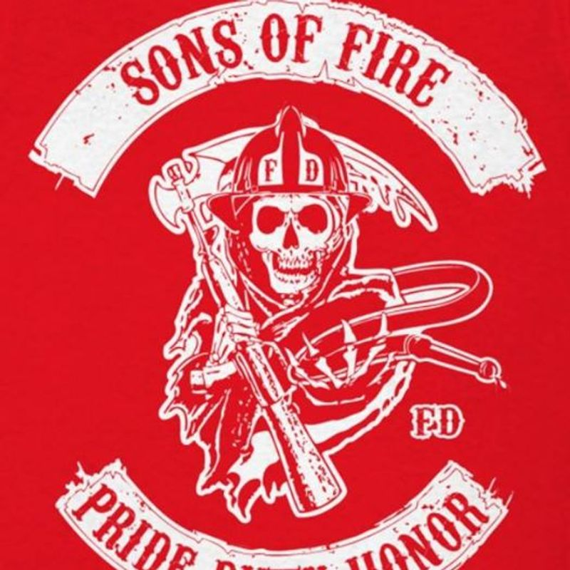 Sons Of Fire Fd Pride Honor  T-shirt Red A5