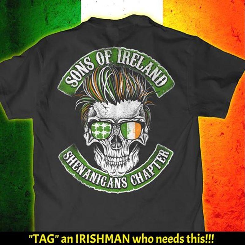 Sons Of Ireland Shenanigans Chapter   T Shirt Black B5