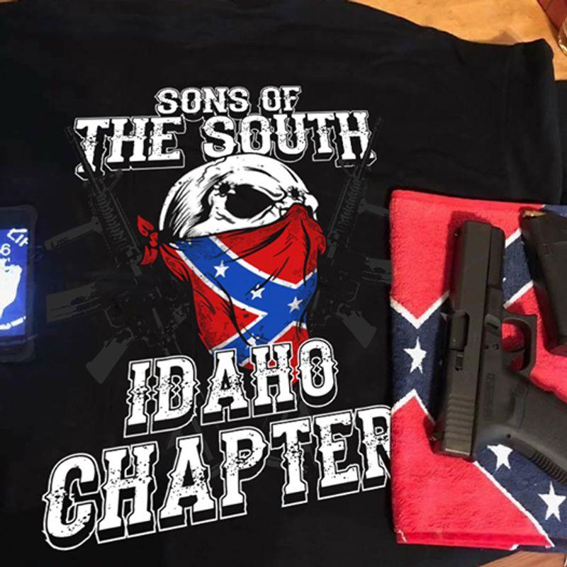 Sons Of The South Idaho Chapter   T Shirt Black B5