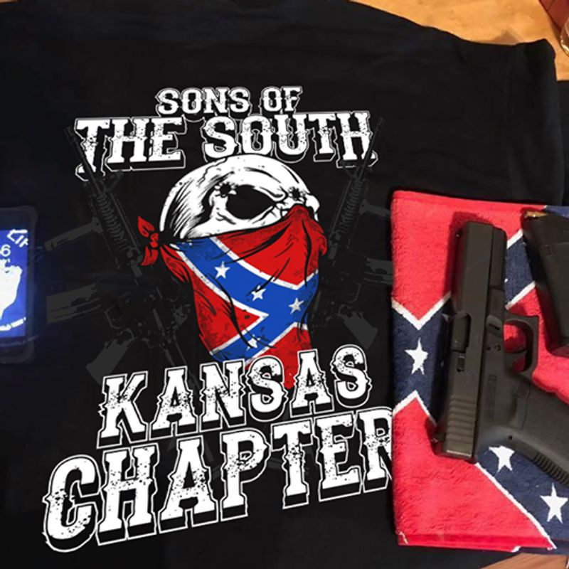 Sons Of The South Kansas Chapter T-shirt Black A4