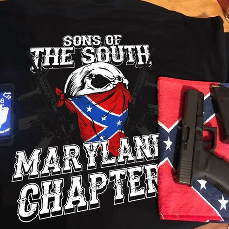 Sons Of The South Maryllane Chapter T-shirt Black A5