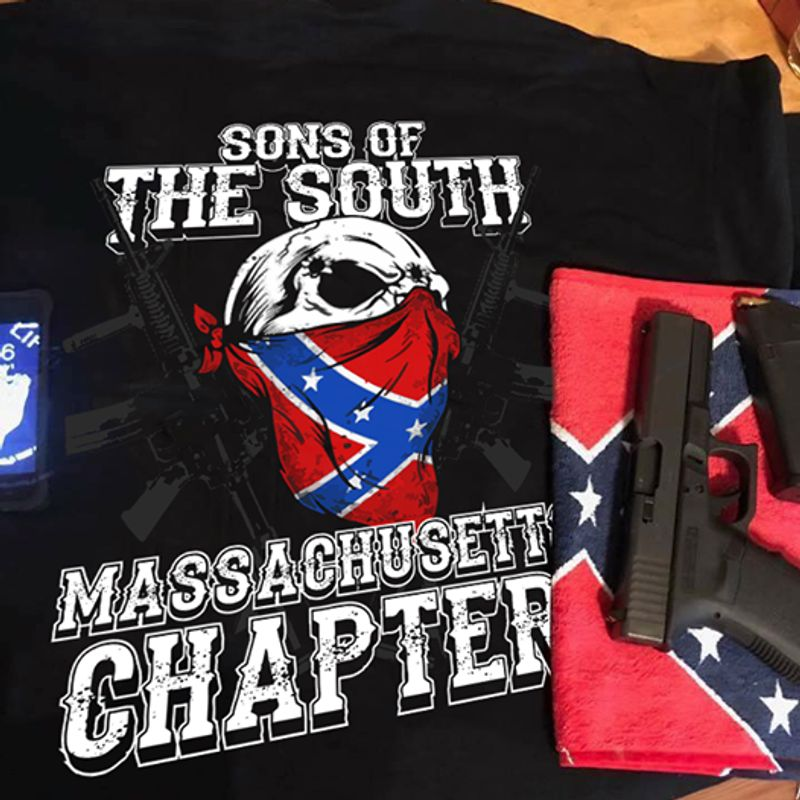 Sons Of The South Massachusett Chapter T-shirt Black B1