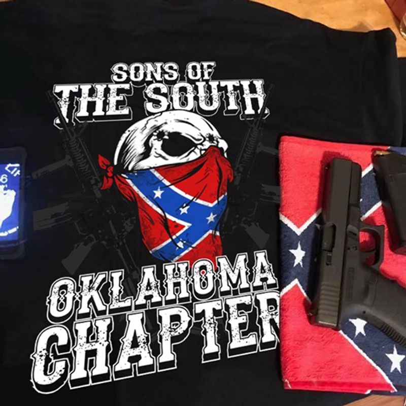 Sons Of The South Oklahoma Chapter  T-shirt Black A4