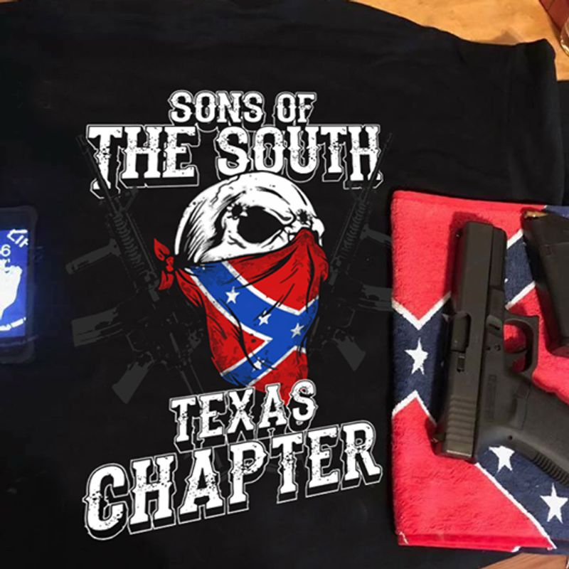 Sons Of The South Texas Chapter  T-shirt Black B1