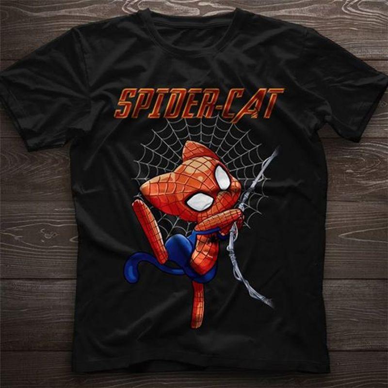 Spider Cat T-shirt Black A8