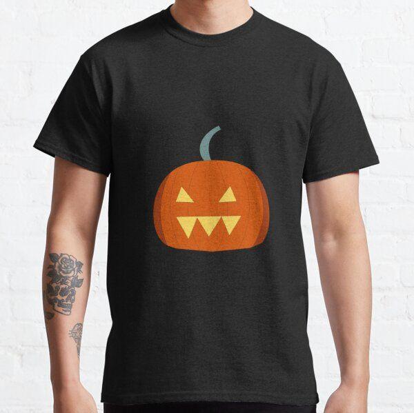 Spooky Pumpkin Illustration Classic T-Shirt