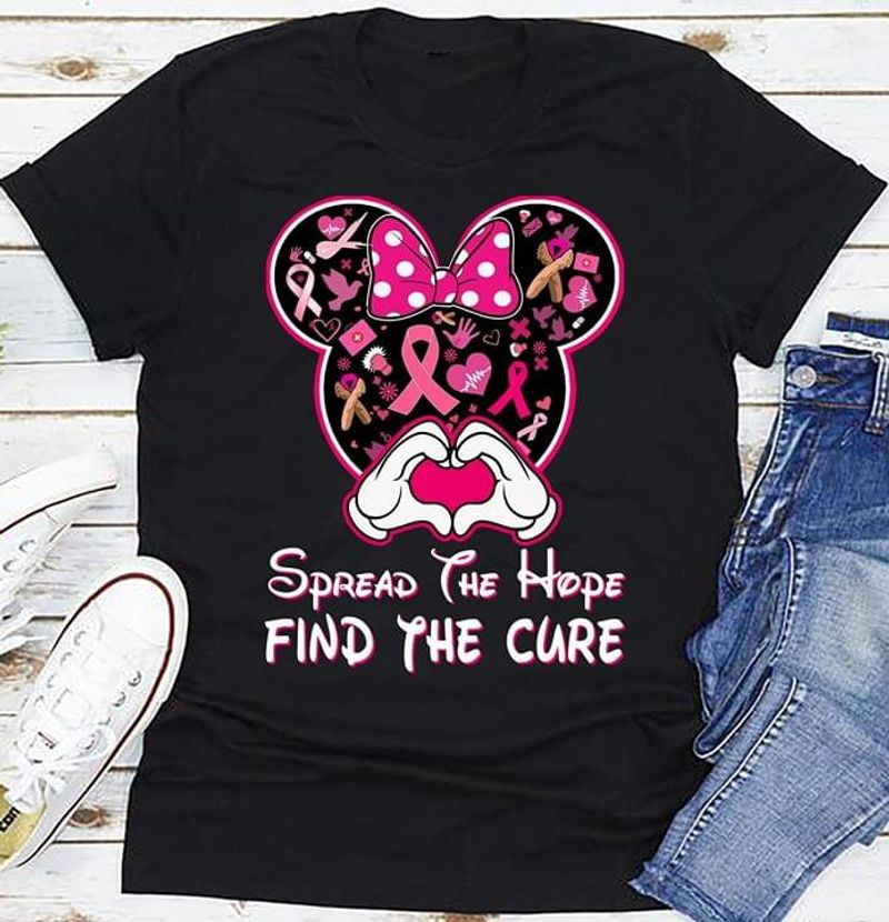 Spread The Hope Find The Cure Autism Awareness Black T Shirt Men And Women S-6XL Cotton