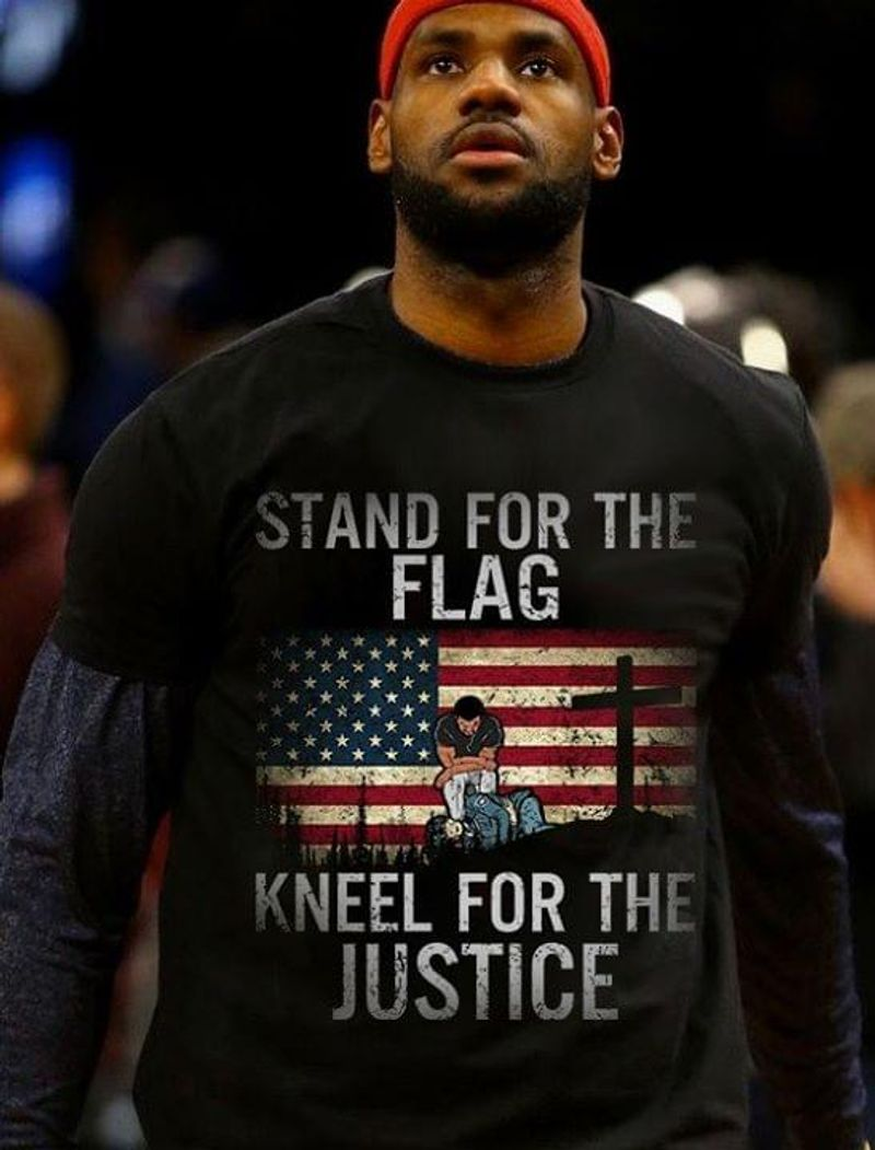 Stand For The Flag Kneel For The Justice Black T Shirt Men/ Woman S-6XL Cotton