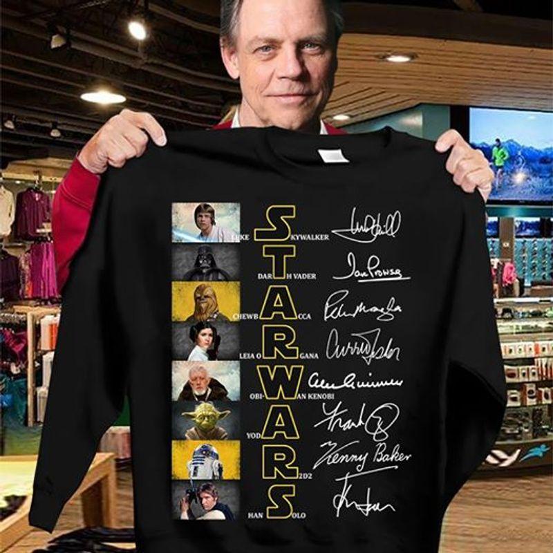 Star Wars Darth Vader Chewbacca Signature T- Shirt Black A5
