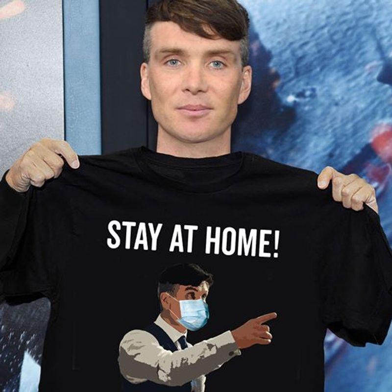 Stay At Home   T-shirt Black B1