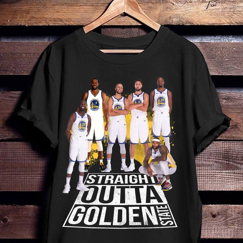 Straight Outta Golden State  T-shirt Black B1